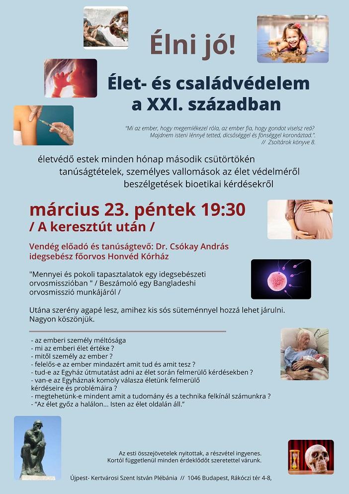 Életvédő est Dr. Csókay András idegsebész főorvossal