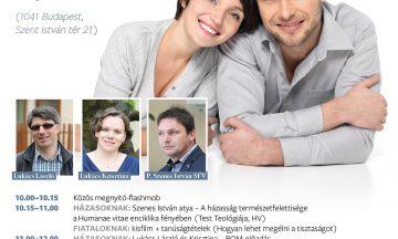 Házasság hete program házasoknak és fiatalokank